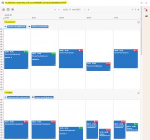 Planbord relatie - Onderverdeeld in werklocaties